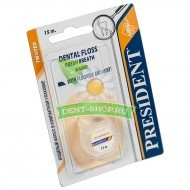 President  Dental Floss Fresh Breath Waxed свежее дыхание, 15 м