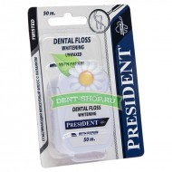President  Dental Floss Whitening отбеливающая 50 м