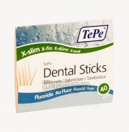 Зубочистки TePe Wooden Dental Sticks Slim Pocket Fluoride (40 шт.)